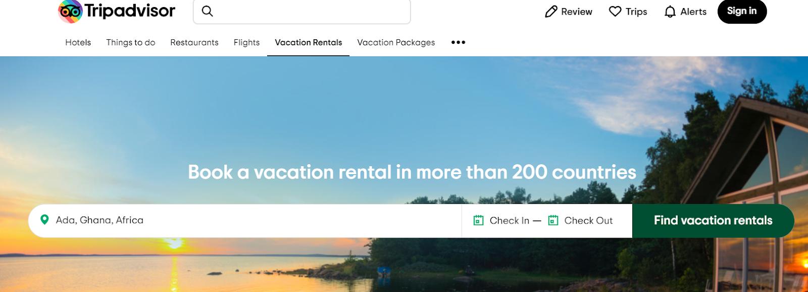 Screenshot of TripAdvisor - Travel Search Engine