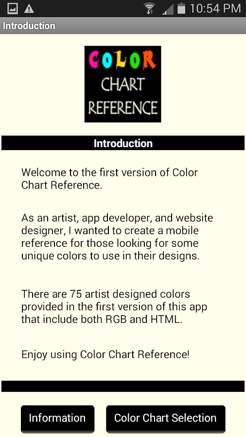 Color Chart Reference- screenshot