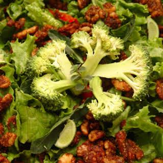 Broccoli Salad With Raisins and Walnuts.