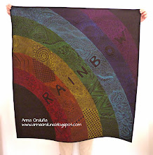 Photo: Rainbow quilt FMQ