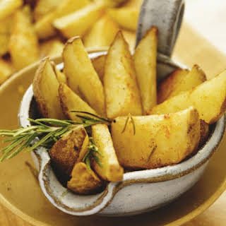 Baked French Fries with Rosemary and Olive Oil.