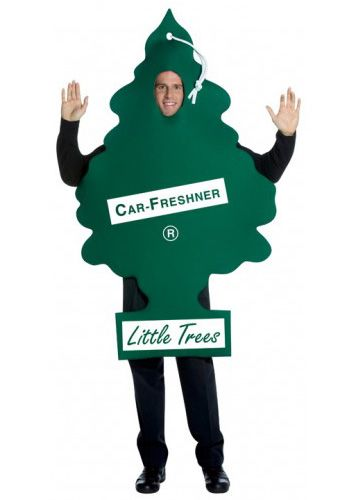 Little Trees Car Freshener Costume Tree-shaped car freshener tunicKeep things fresh this Halloween dressed as a giant car air freshener! This one-size-fits-most tuni