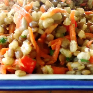 Lentil Barley Salad with Lemon Thyme Vinaigrette