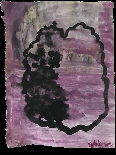 absences_sophie_lormeau_serie_matiere_rose_cerveau_mind_corps_esprit_peinture_acrylique_papier_magazine_upcyclinrose_pink_noir_femme_artiste_memoire_art_contemporain_singulier_emergent_collection_©_adagp_paris_2021