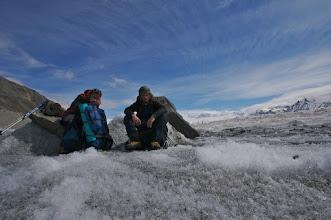 Photo: On Logan Glacier.