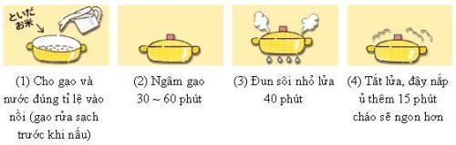 Cách nấu cháo từ gạo