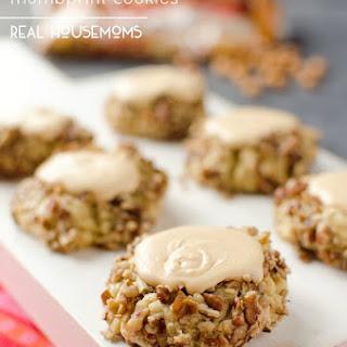 Salted Caramel & Pecan Thumbprint Cookies