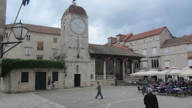 Photo: De klokkentoren van Trogir