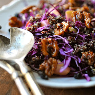 Red Cabbage Salad with Quinoa, Blueberries & Cinnamon Walnuts.