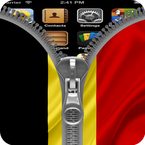 Belgium Flag Zipper Screenlock