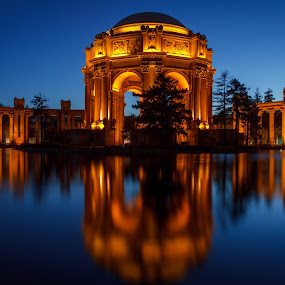 Palace of Fine Arts by Paul Judy - Travel Locations Landmarks ( landmark, california, twilight, san francisco, palace of fine arts )