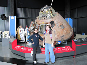 Photo: Heather & Heather in front of the Apollo 16 Capsule (yes, the real one)