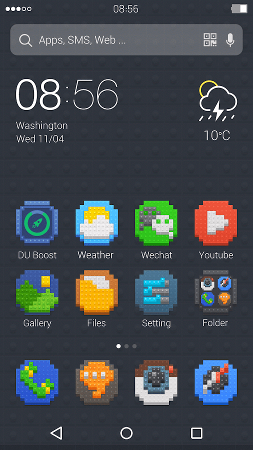 Lego Style: DU Launcher Theme- screenshot