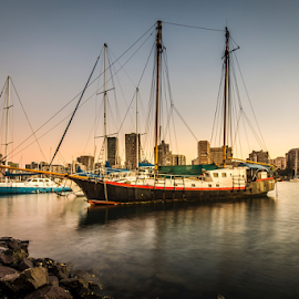 Liberty by Peter de Groot - Transportation Boats ( yacht, ©pdgpix - peter de groot - unauthorised use prohibited, old, ship, water, boat, sea )