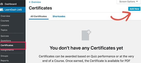 Add new certificate