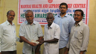 Photo: Leprosy Rehabilitation Programme, Self Employment Rehabilitation Programme for Leprosy people held on 6th April 2014. in from of our Office. 4 beneficiaries got the loan for purchase of Cow and Goats