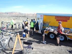 Photo: First rest stop, just before the climb