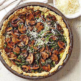 Roasted Mushroom, Spinach, and Ricotta Tart Recipe