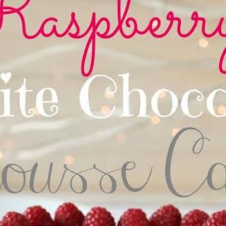 Raspberry White Chocolate Mousse Cake.
