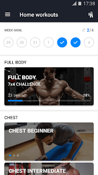 Home Workout - No Equipment APK screenshot thumbnail 1