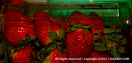 Photo: Strawberries dipped in brown sugar reminds me of all the precious times that my wife and I had the house to ourselves and... well, use your imagination :)