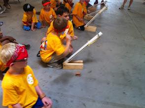 Photo: Ping pong ball launchers