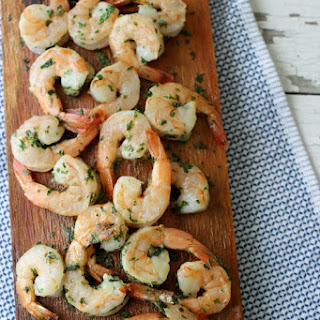 Grilled Shrimp with Butter and Herbs.