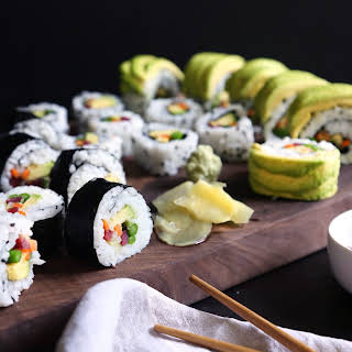 Veggie Sushi & 3 Different Ways to Roll.