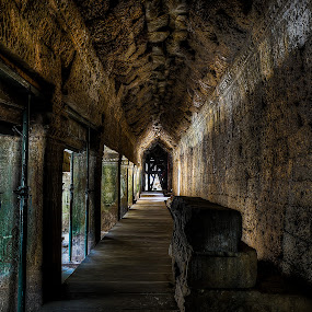 Ta Prohm Temple Hallway by Lemuel Lee - Buildings & Architecture Other Interior