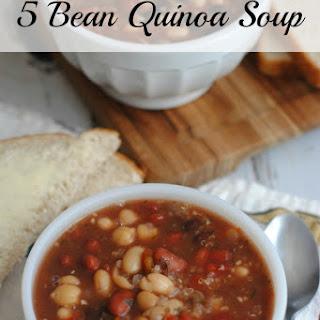5 Bean Quinoa Soup