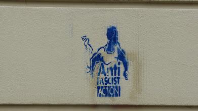 """Photo: Stencil; Unknown Artist; """"Anti Fascist Action"""""""