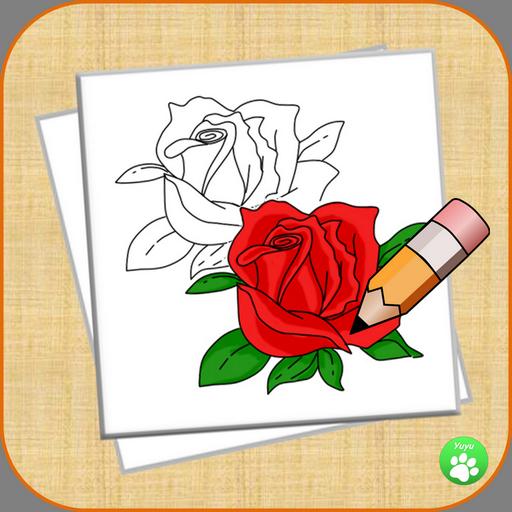 How To Draw A Rose StepByStep 1.0 Apk Download - net.draw.rose APK ...