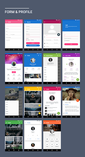 MaterialX - Android Material Design UI screenshot