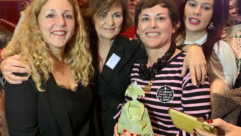 Imagen del acto de entrega del Premio Menina, presidido por Carmen Calvo.
