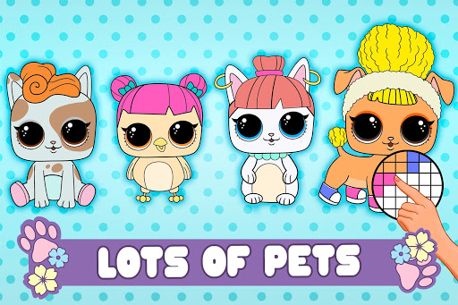 PETS Coloring : Pixel Art by Number - Lol Colors - screenshot