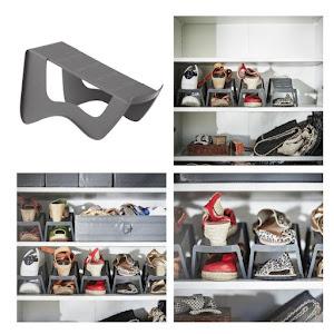 Set 6 organizatoare pentru pantofi, 14x14x24 cm