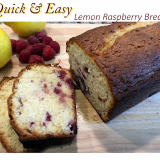 Quick and Easy Lemon Raspberry Bread