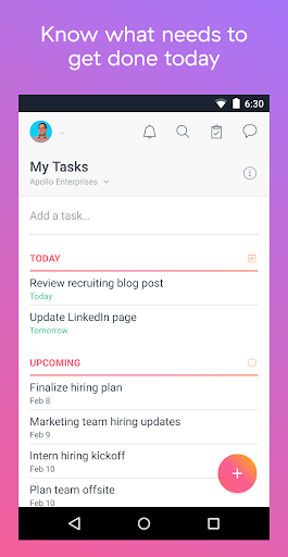 Asana: organize team projects 5.39.2 screenshots 2