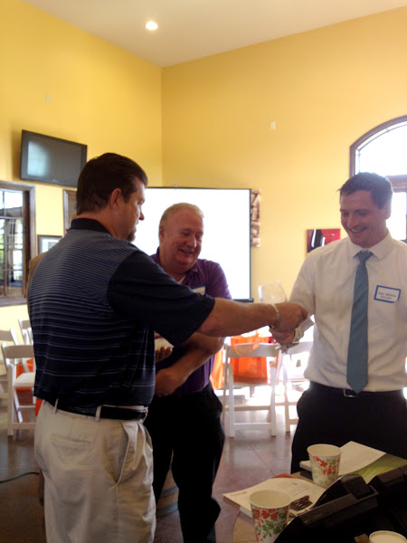 Photo: Windstream's Tim Cipriani with TBI partners.