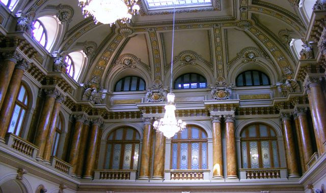 OFFICES HALL AT MUSEUM OF ROMANIA NATIONAL BANK