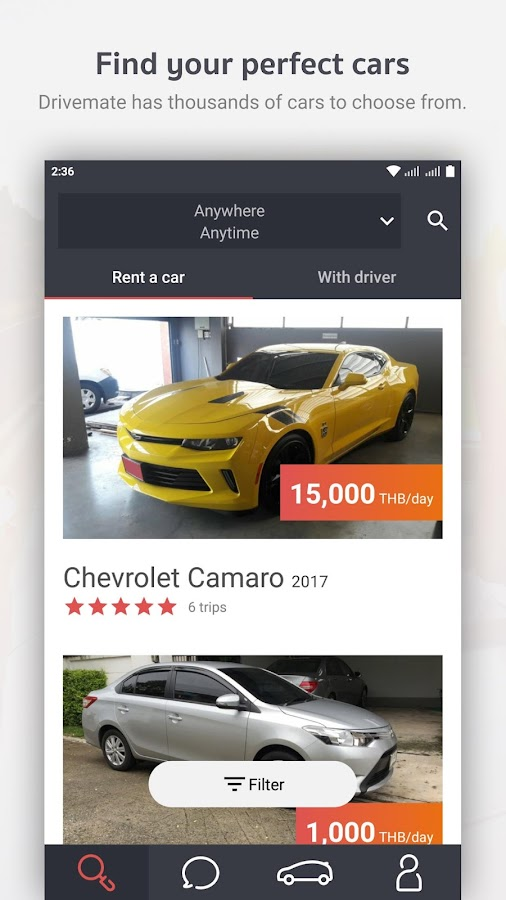 Drivemate: Rent a car or rent a car with driver- screenshot