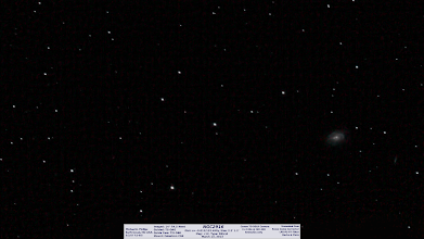 Photo: A day late for day 27 of backlogs is another recent. I go through the pain of setup and always intend to grab as much data as I can. I had planned a long session on M95 & M96togetherin the same frame. Before finishing the night on that I tried for NGC2903, a nice and somewhat large galaxy near Leo's head. I had a happy mistake and found this nearby galaxy, NGC2916 instead. I only found it wasn't the galaxy I wanted today when plate solving it in Astrobin. So, I was close as NGC2903 would have been in the same frame, but alas the clouds stole the night from me! :( One more for today means my catchup will be caught up! :)
