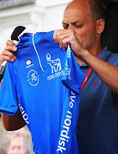 Photo: Den blå pointtrøje