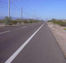 Photo: Pecos Road, Phoenix (Pic5) Two through lanes with edgeline. Note shoulder is quite wide and very smooth, good condition. There is no curb.