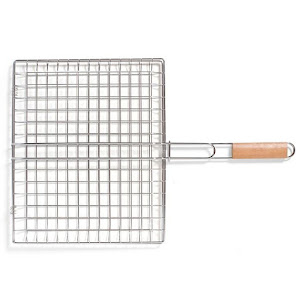 Grill pliabil pentru gratar 40x33 cm, BBQ Grill Square