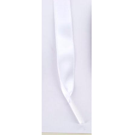 Skosnöre satin vit 110cm lång