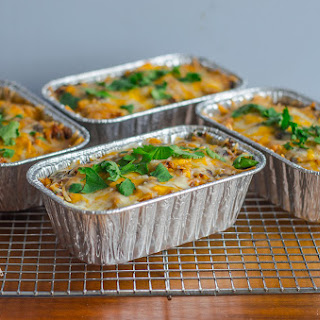Fit & Healthy Chicken & Rice Enchilada Casserole.
