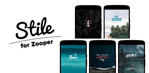 Stile for Zooper app (apk) free download for Android/PC/Windows screenshot