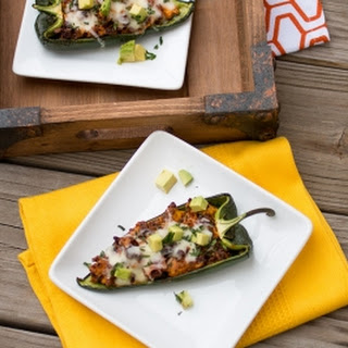 Chorizo and Egg Stuffed Poblano Peppers