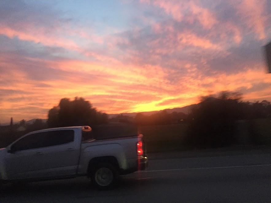 Sunset enroute